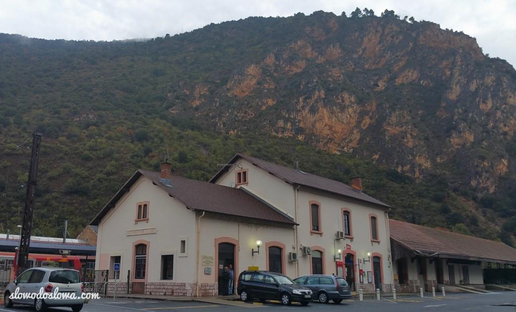 Stacja kolejowa Villefranche-de-Conflet, Pireneje Wschodnie, Francja,