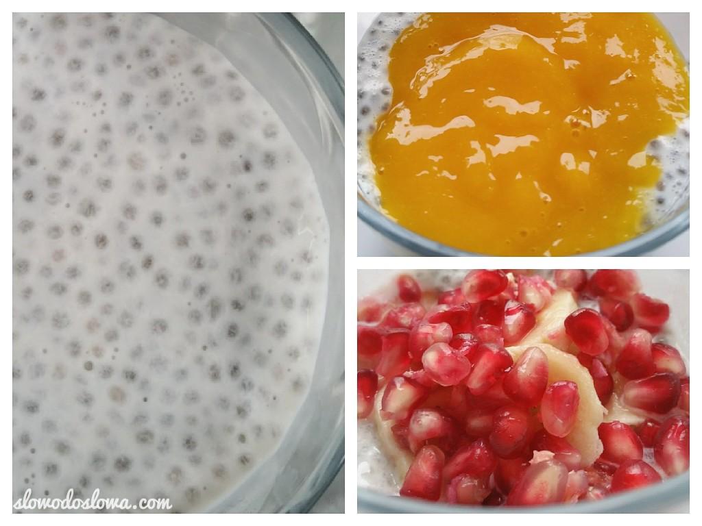 Pudding z nasion chia z owocami