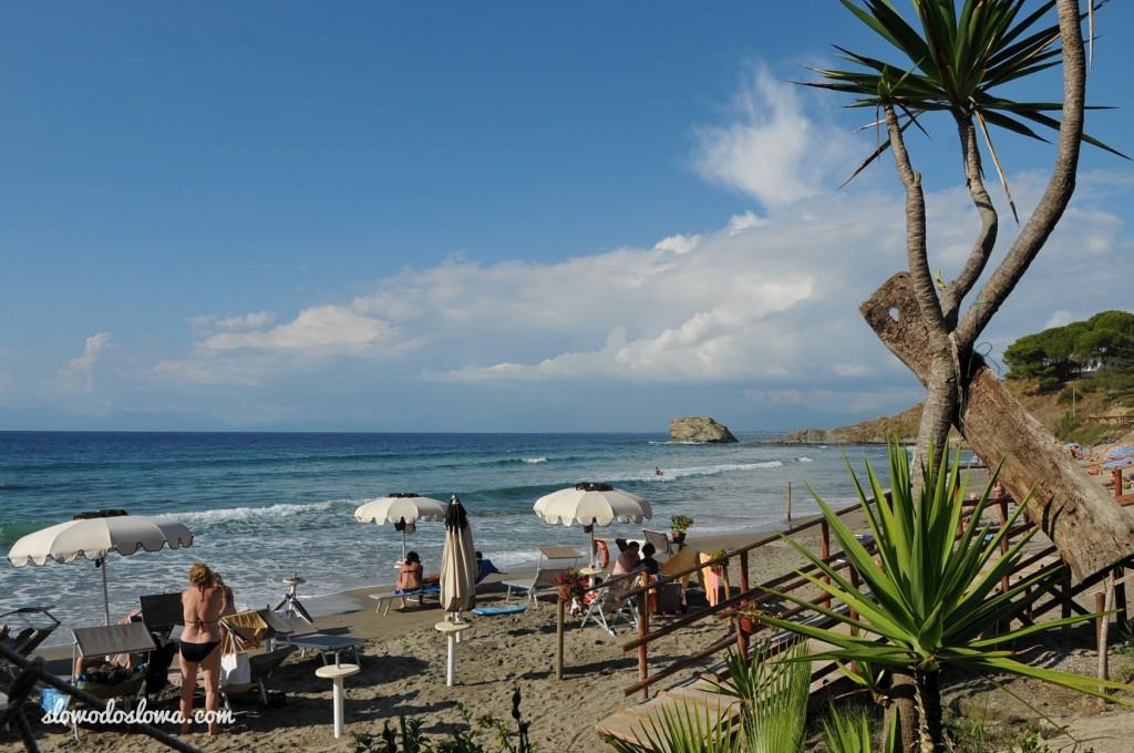 Plaża Trentova w Agropoli, Włochy