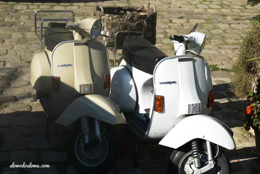 Vespa w Castellabate, Włochy