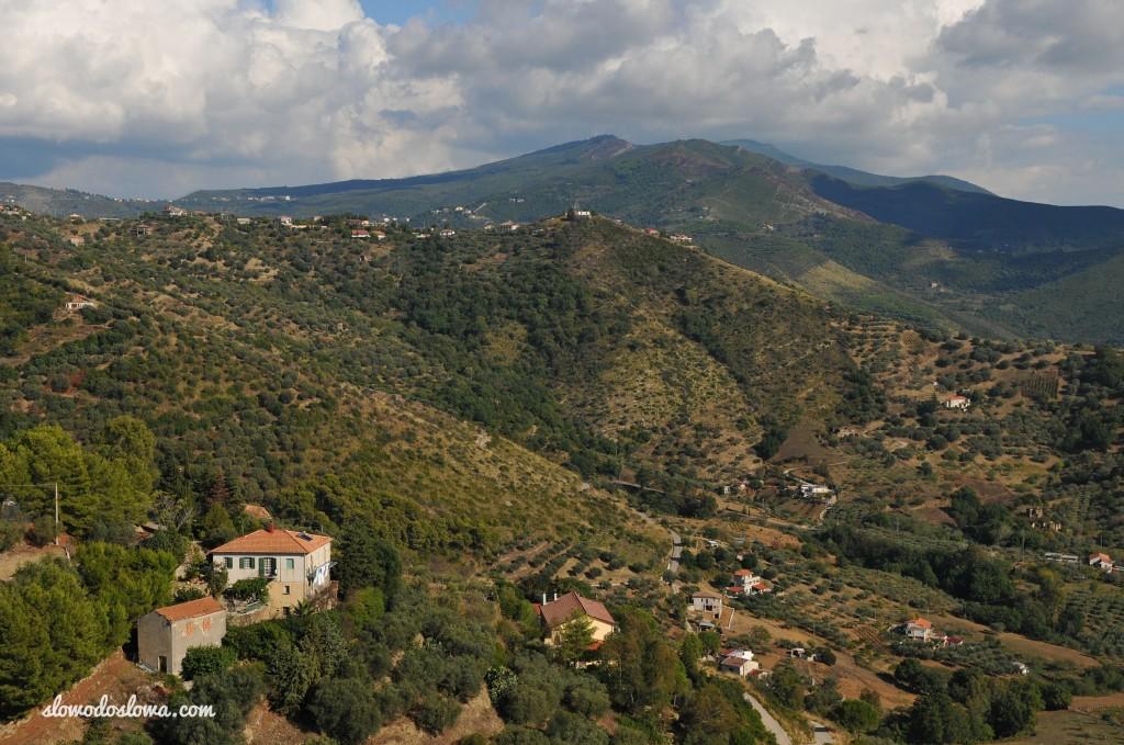 Góry w okolicy Castellabate, Włochy