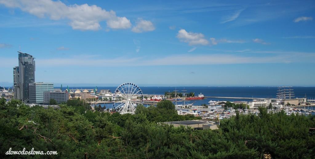Gdynia, widok na port z Kamiennej Góry