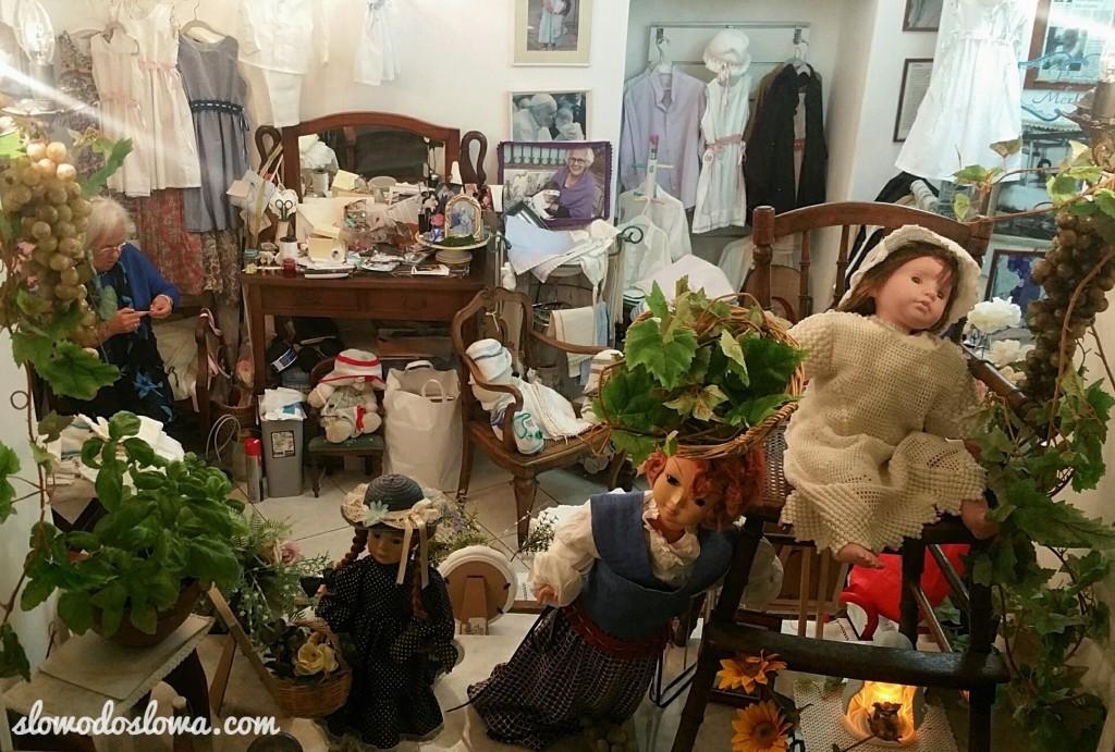 Urokliwy sklepik z rękodziełem pani Tiny, Anacapri, Włochy