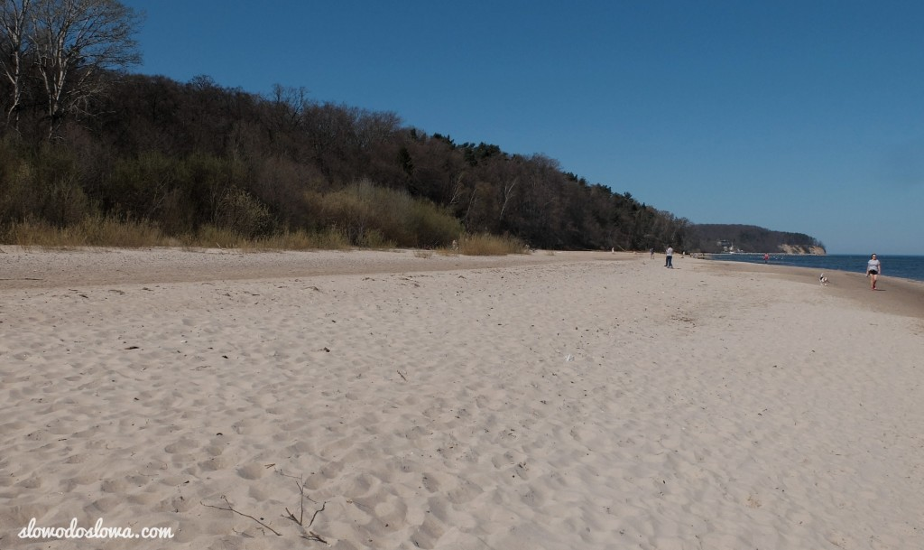 Plażą do Sopotu