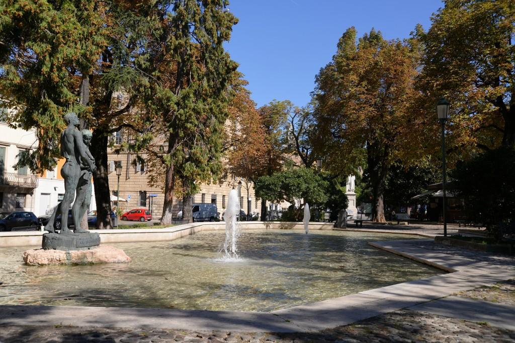 Park miejski w Weronie