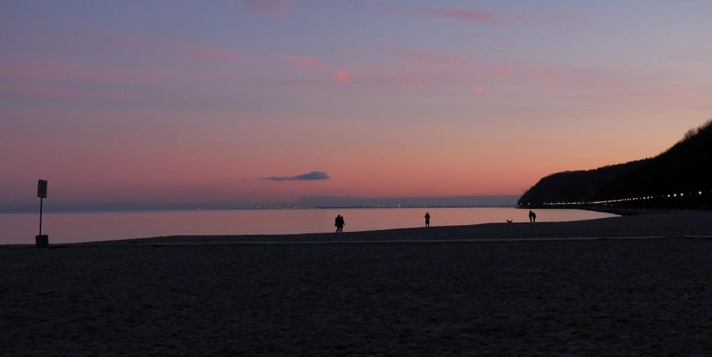 Zachód słońca w Gdyni Śródmieście