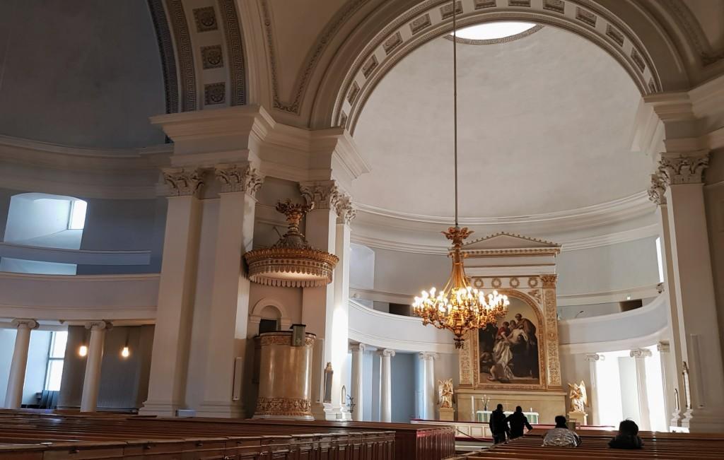 Wnętrze Katedry helsińskiej