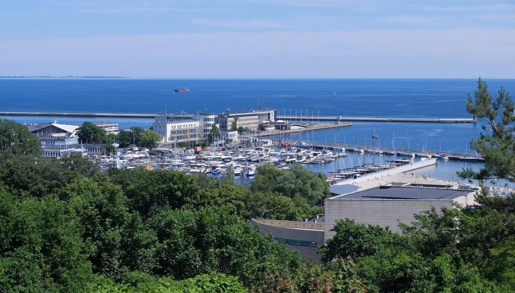 Panorama z Kamienej Góry, Gdynia