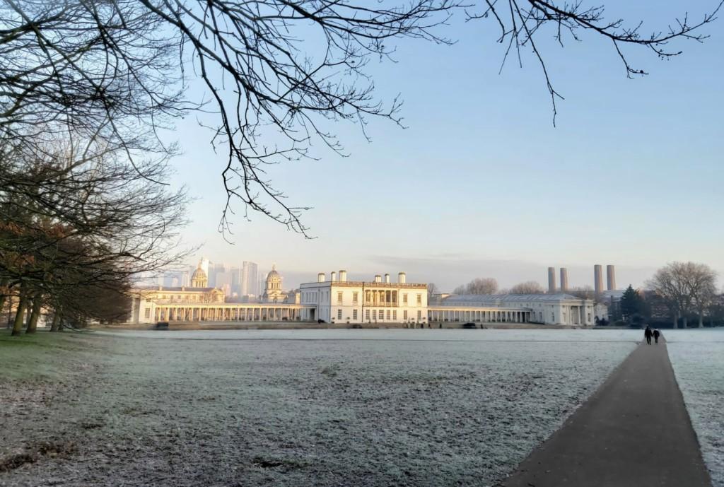 Mroźny Greenwich, Londyn