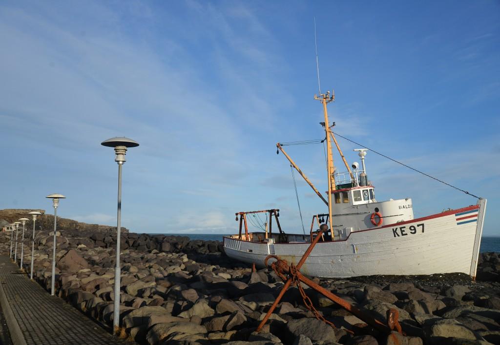 A boat, Keflavik, Islandia