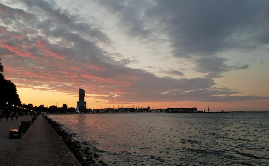 Zachód w Gdyni