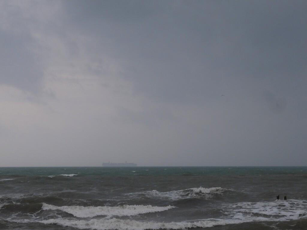 Grado wzburzony Adriatyk