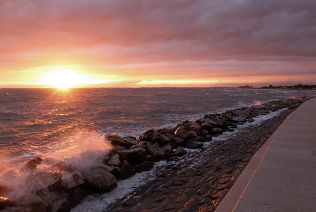 Grado - zachód słońca nad Adriatykiem